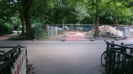 Neuer Radweg zwischen Goebenbrücke und Heymannstraße